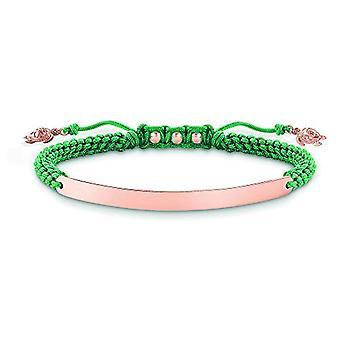 Thomas Sabo Rose guldpläterade armband 18 karat från Donna silver Sterling 925 LBA0057-597 -6-L19v