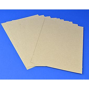 10 A4 Natural Brown Recycled Style Kraft Card Sheets for Crafts