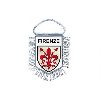 Fanion Mini Drapeau Pays Voiture Souvenir Blason Florence Italie Firenze