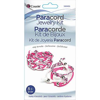Kit de paracord tresse rose Bracelet Pk 84055