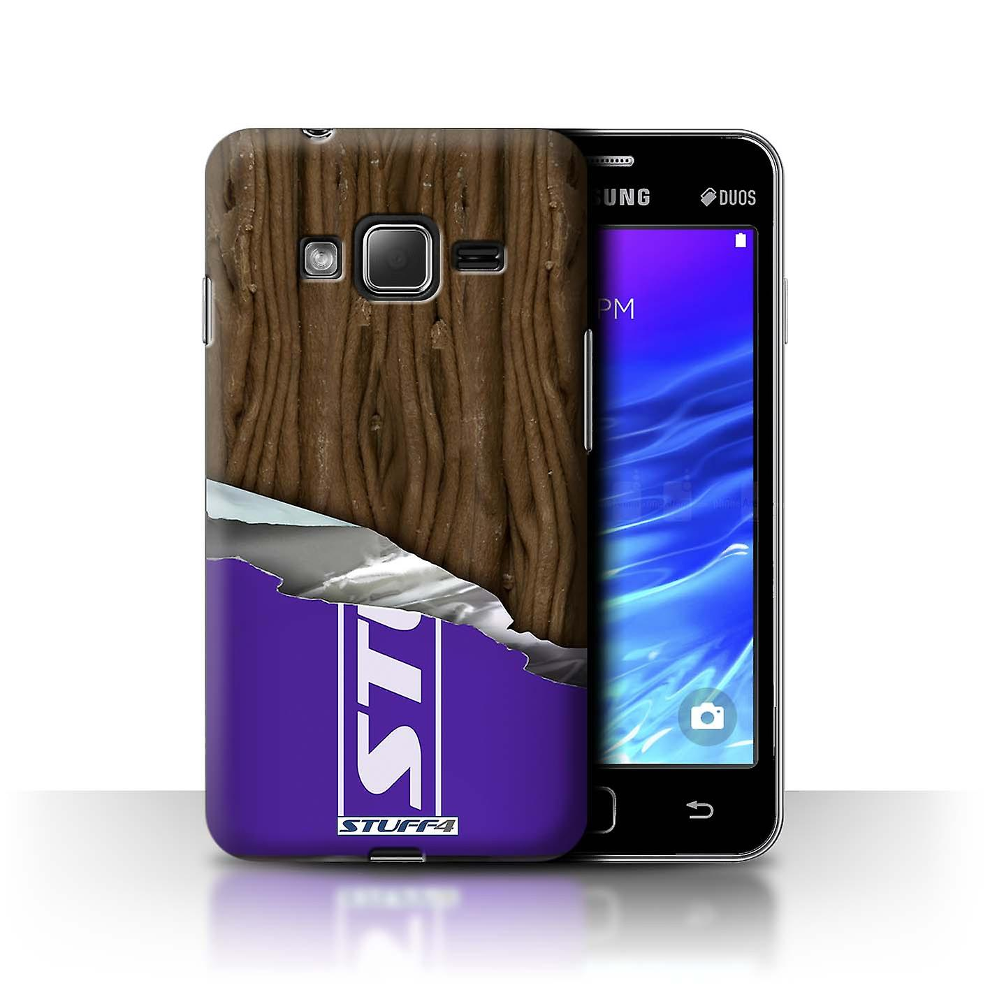 STUFF4 Case/Cover for Samsung Z1/Z130/Wrapped Flake/Chocolate