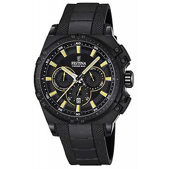 Festina 2016 Mens Chronobike cronografo giallo e nero Watch F16971/3