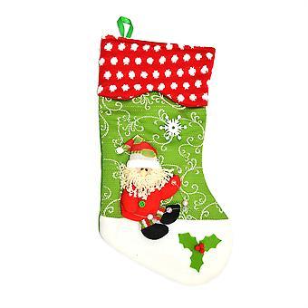 Chaussettes de Noël Shatchi Designer Jersey vert Noël décorations 5310