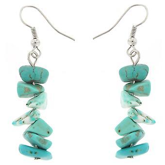 Handmade Blue Stone Drop Earrings