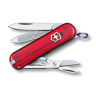 Victorinox CLASSIC SD Jelly RED Swiss army knife