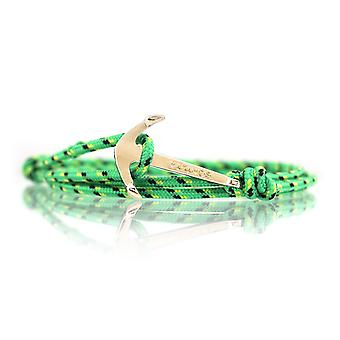 Vikings anchor bracelet fashion jewelry green with Golden anchor lock