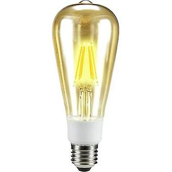 LED Sygonix 230 V E27 7 W = 60 W Warm white EEC: A++ Bulged (Ø x L) 64 mm x 164 mm dimmable 1 pc(s)