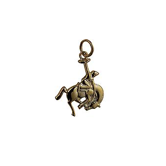 9ct Gold 19x16mm Rodeo Pendant or Charm