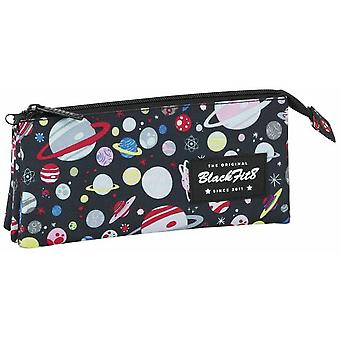 Safta Portatodo Triple Blackfit8 Planets (Toys , School Zone , Pencil Case)
