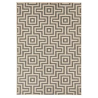Grå geometriske labyrint marokkanske tæpper - Floorit