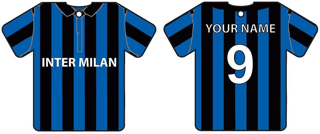 Personalised Inter Milan Football Shirt Car Air Freshener
