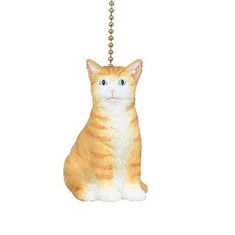 Aquí Kitty gatito naranja atigrado gatito gato plafón ventilador tire