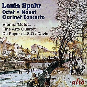 Gervase De Peyer Vienna oktett London S - Spohr: Oktett i E-dur; Klarinett na [CD] USA import