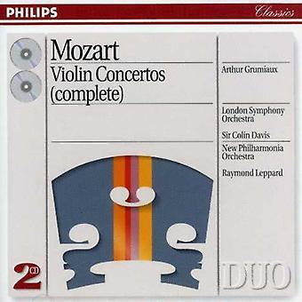 Grumiaux/Davis/London Symphony Orch. - Mozart: Violinkoncerter (komplet) [CD] USA importerer