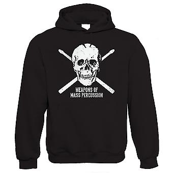 Vectorbomb, Weapons of Mass Percussion, Mens Funny Drumming Hoodie