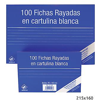 Import Pack 100 Ficha Cartulina Rayada215X160N5 (Toys , School Zone , Accessories)