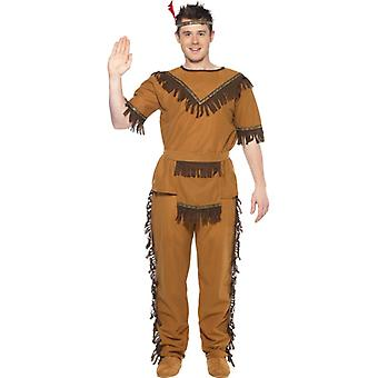 Indian costume Brown Indian Chief Apache mens costume