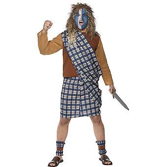 Braveheart Schotte Kelten Kostüm Barbarenkostüm Gr. L