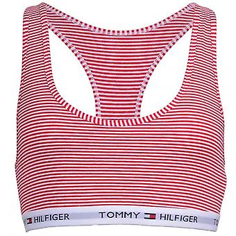 Tommy Hilfiger Women Iconic Cotton Bralette, Red Stripe, X-Small