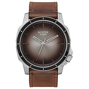 Nixon The Ranger OPS Leather Watch - Brown/Taupe Ombre