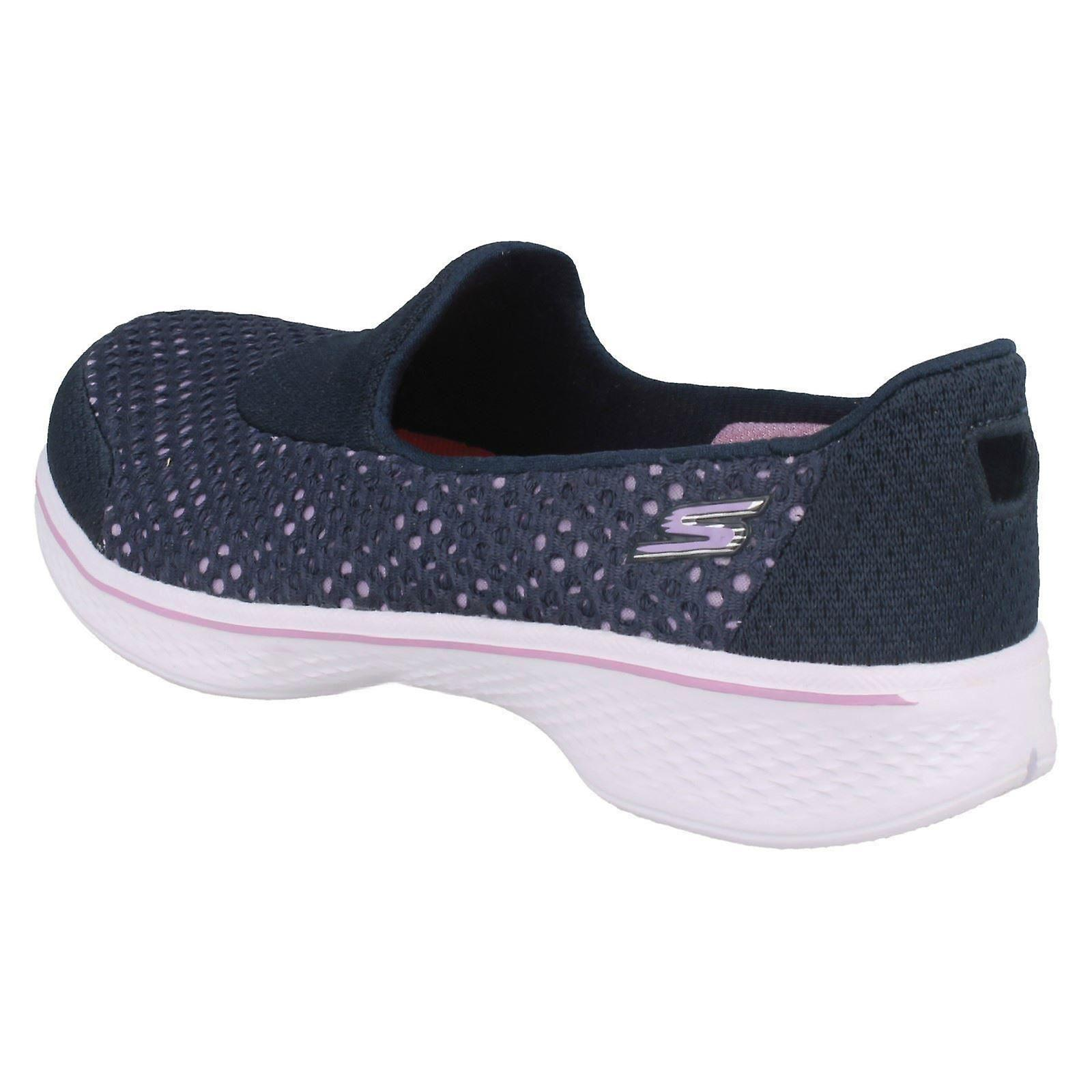 Girls Skechers Flats With Mesh Detail Go Walk 4 Kindle 81118