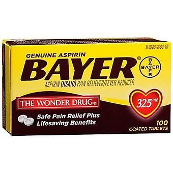 Bayer Aspirin 325 mg overtrukne tabletter 100 Count flaske