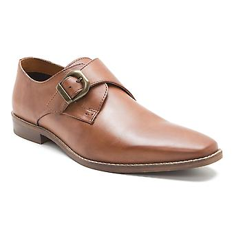 Red Tape Sutton Tan Leather Mens Monk Shoes