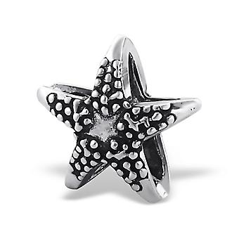 Starfish - 925 Sterling Silver Plain Beads
