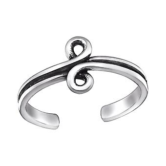 Spiral - 925 Sterling Silver Toe Rings - W29393x