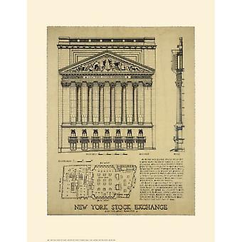 New York Stock Exchange Poster Print by Roger Vilar (14 x 18)