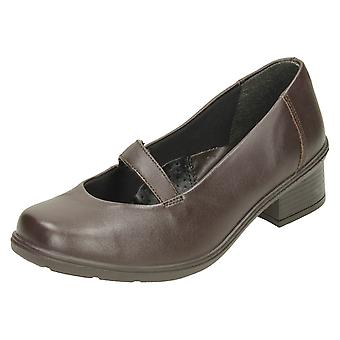 Ladies Easy B Heeled Casual Shoes Celeste