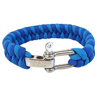 Tyler and Tyler Zig Zag Woven Bracelet - Blue/Light Blue