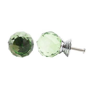 CGB Giftware Green Glass Drawer Handle