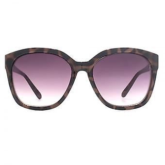 M:UK Highbury Glamorous Rectangle Sunglasses In Mink & Dark Tortoiseshell
