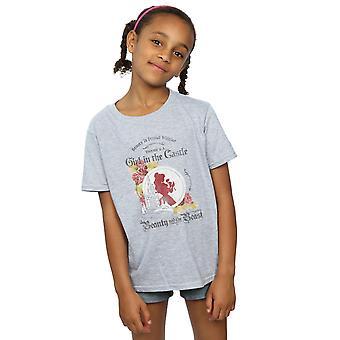 Disney Mädchen Schönheit und das Tier-Mädchen in der Burg-T-Shirt