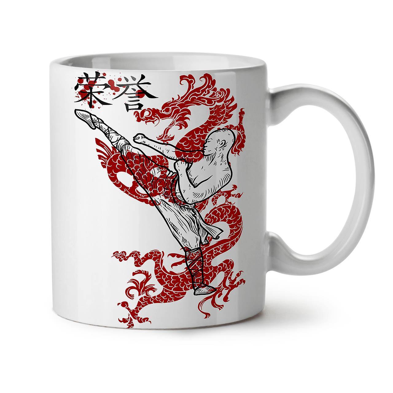 Warrior Thé Céramique Blanc 11 Café OzWellcoda Nouveau Dragon Ninja Tasse kiTZwOPXu