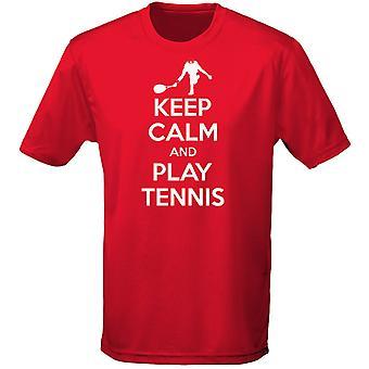Mantener la calma y jugar tenis para hombre camiseta 10 colores (S-3XL) por swagwear
