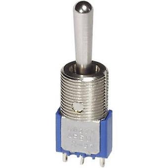 Toggle switch 250 Vac 3 A 1 x On/Off/On APEM 5639M