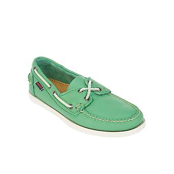 Sebago men's B720048KELLYGREEN green leather moccasins