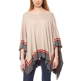 B.C.. best connections by heine ladies poncho grey striped look