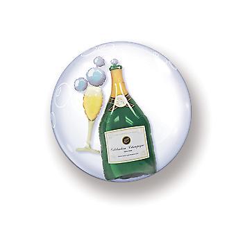 Ballon dobbelt Bubbel bolden boble champagne flaske ca 55 cm