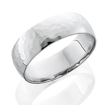 رجالي مطروقة خاتم البلاتين