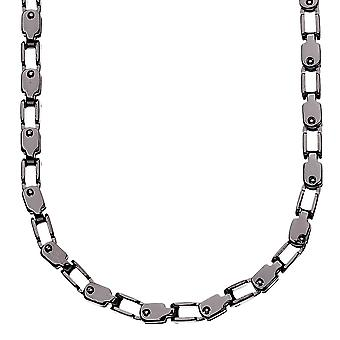 Iced out stainless steel INDUSTRY chain - 4mm black