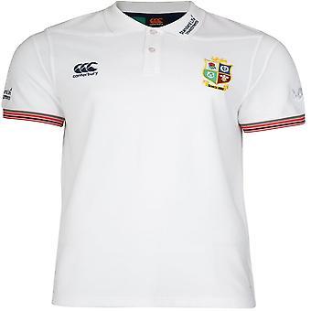 British & Irish Lions Mens Vapodri Cotton Wicking Pique Polo Shirt