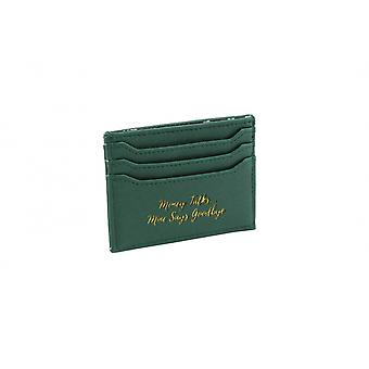 CGB Giftware Willow And Rose Money Talks Green Card Holder Wallet