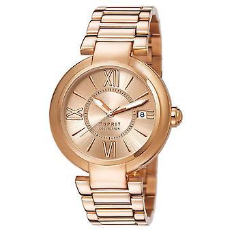 Esprit Damen Uhr Armbanduhr Aletheia roségold Edelstahl EL102012F06