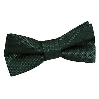 Dark Green Solid Check Pre-Tied Bow Tie for Boys