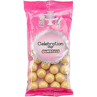 Celebrations By Sweetworks Gumballs 8Oz-Shimmer (Tm) Gold