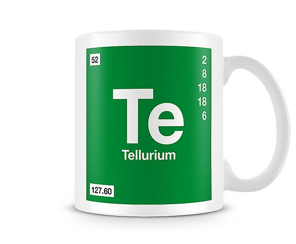 Element Symbol 052 Te - Tellrium Printed Mug
