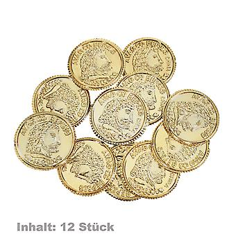 Pirate gold 12 coins treasure toys
